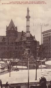 Lafayette Square, Public Library, Monument and Hotel Lafayette, Buffalo, New ...