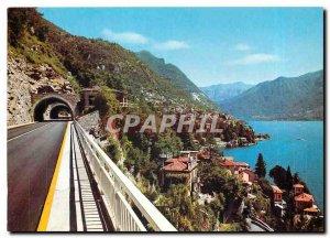 Postcard Modern Lake Como Variant Queen Street