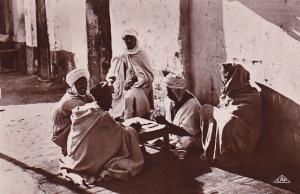 RP: Arab men playing dominoes , TUNISIA , 00-10s