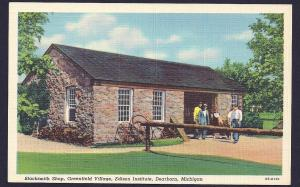Greenfield Village Blacksmithy Dearborn unused c1940s