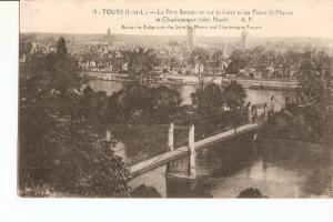 Postal 027020 : Tours. Le Pont Boaparte sur la Loire