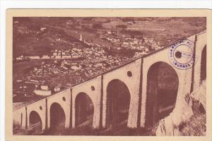 France Lourdes Le Grand Viaduct du Funiculaire du Pic du Jer et la Ville