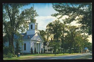 Fryeburg, Maine/ME Postcard, First Congregational Church