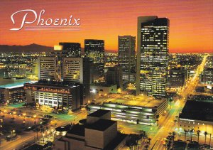 City Lights and Evening Sunset Phoenix Arizona