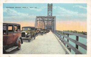 F15/ Mobile Alabama Postcard c1915 Cochrane Bridge Autos 8