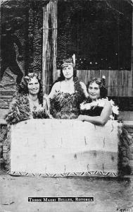 New Zealand Three Maori Belles, Rotorua