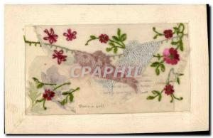 Old Postcard Fantasy Flowers Toilée