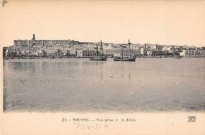 Sousse Tunisia Vuew prise de la Jetee Harbor View Antique Postcard J65832