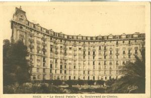 Nice, Le Grand Palais, 2 Boulevard de Cimiez, 1934 Postcard