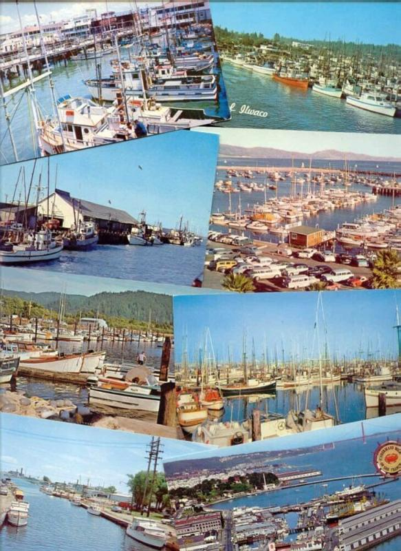 22x U.S. Standard Sized Postcards of PORTS HARBOUR HARBOR BAY WHARF