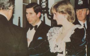 Princess Diana Prince Charles London Visit Downing Street 1982 Royal Postcard
