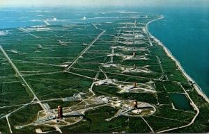 Florida John F Kennedy Space Center Missile Row Looking North