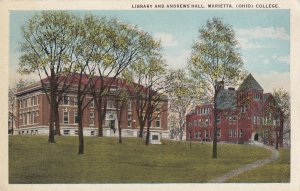 MARIETTA, Ohio, 1910-1930s; Library And Andrews Hall, College