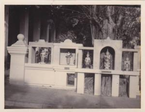 RP; Near South entrance of Shrine Dagon Pagoda, Street shrines, Rangoon, Burm...