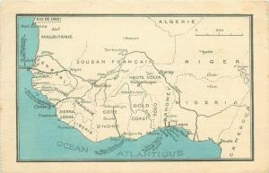 French West Africa early map card