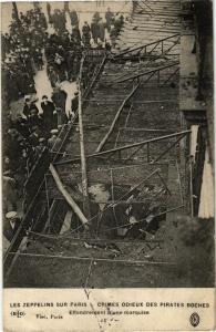 CPA LES ZEPPELINS SUR PARIS effondrement d'une marquise (133505)