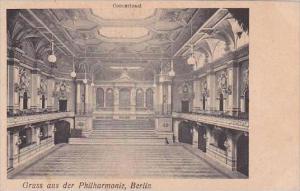 Germany Berlin Gruss Aus der Philharmonie Concertsaal