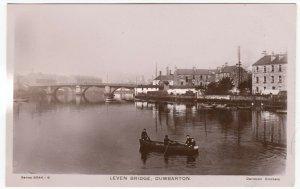 Dunbartonshire; Leven Bridge, Dumbarton RP PPC By Davidson, Unused, c 1910