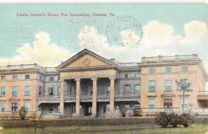 Chester Pennsylvania Crozers Home For Incurables Antique Postcard K92375