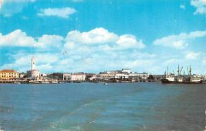 Malaysia Old Vintage Antique Post Card Penang Harbour 1961