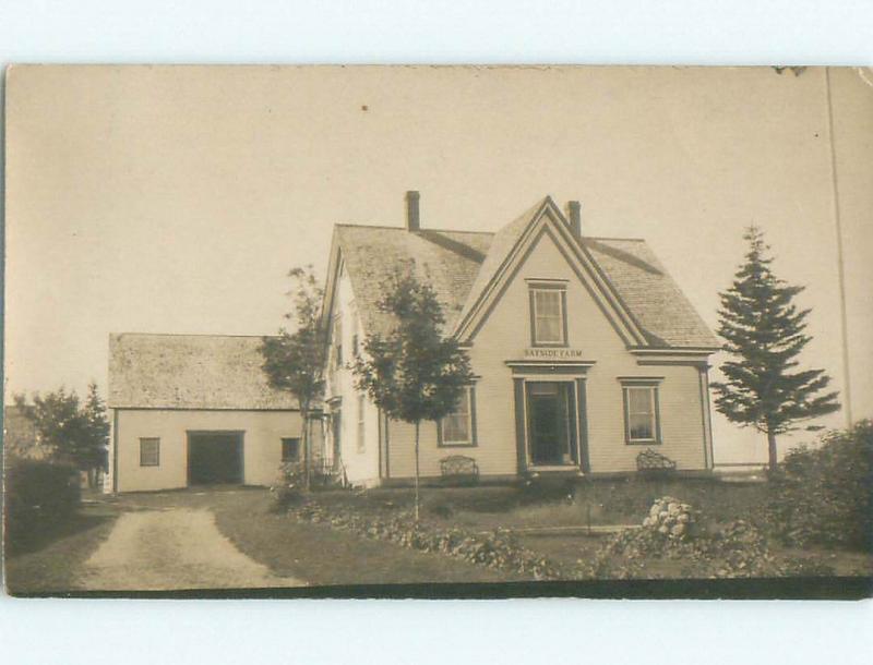 Pre-1911 rppc HOUSE AT WAYSIDE FARM Weymouth - Near Digby Nova Scotia NS W1028