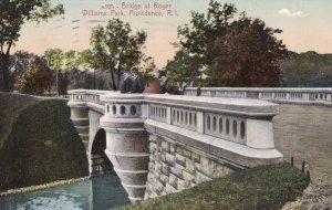 PROVIDENCE , Rhode Island , PU-1909 ; Bridge , Roger Williams Park