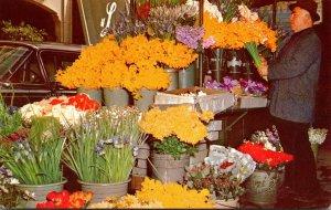 California San Francisco Flower Stand