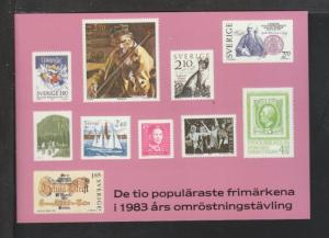 Sweden Stamps Postcard