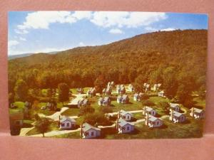 Old Postcard Mt Liberty & English Village East Cabins Indian Head White Mts NH 2