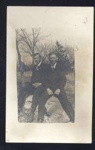 RPPC KEARNEY NEBRASKA HORN FAMILY MEN MINDEN NEBR. REAL PHOTO POSTCARD