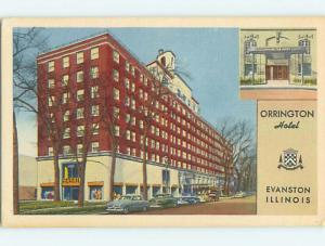 Unused Linen ORRINGTON HOTEL Evanston Illinois IL Q7010-12