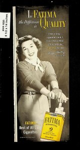 1951 Fatima Quality Cigarettes Maggie Moorley Vintage Print Ad 015727