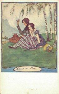 Artist Signed Rie Cramer  Le Temps Jadis par Lámie du Poete Art Deco 04.56
