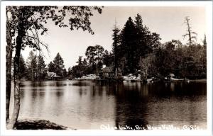 RPPC  BIG BEAR VALLEY, CA California  MOVIE SET at CEDAR LAKE  c1940s   Postcard