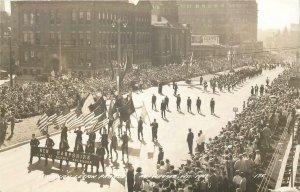 RPPC MILWAUKEE WI American Legion Parade 1941 WWII Real Photo Postcard