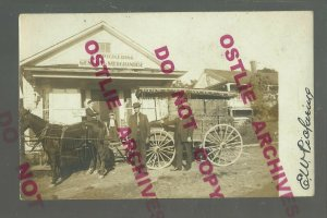 Jackson PENNSYLVANIA RPPC c1910 GENERAL STORE & DELIVERY WAGON Ghost Town SIGNED