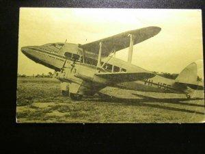 QantusAirways  1935 passenger plane-card from 1985