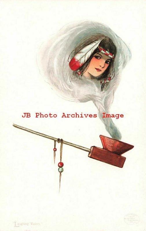 6 Postcards Set, Samuel Schmucker, Detroit Publishing, Smoker's Dreams