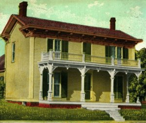 Hoosier Poet James Whitcomb Riley Birthplace Greenfield Indiana Postcard 1912