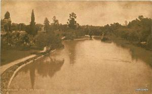 C-1910 Hollenbeck Park Los Angeles California Mitchell postcard 514