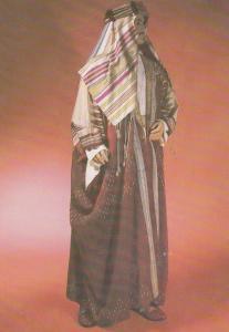 1800s Arab Costume Fashion London Museum Exhibit Postcard