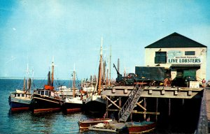 Massachusetts Cape Cod Provincetown Fishing Boats At Town Wharf