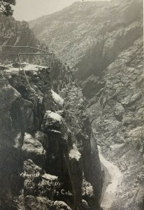Royal Gorge Wonder View Real Photo Postcard RPPC Cyko Colorado