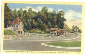 Hawk's Nest Rock State Park New River WV, 1942 Linen