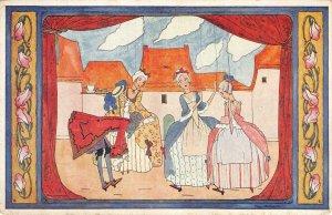 Rie Cramer Kinderdeuntjes Marionetten Artist-Signed Art Nouveau Vintage Postcard