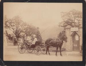 RP: UK, 1890s ; Family with baby in Carriage