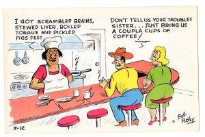 OVERSIZE, Cartoon, Vintage Bob Petley Humour, 5 1/2  X 8 1/2  inch