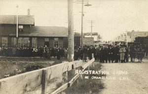 Chamberlain, South Dakota, Land Registration Crowd (1904) RPPC Postcard