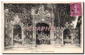 Old Postcard Nancy Fountain of Neptune