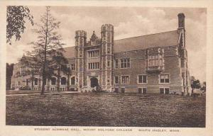 Massachusetts South Hadley Student Alumnae Hall Holyorke College Albertype